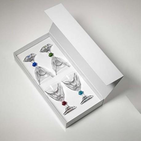 MARIO LUCA GIUSTI SET 4 GLASSES WINE