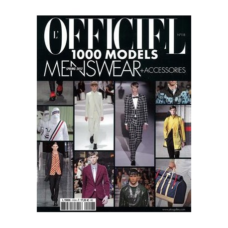 L'OFFICIEL 1000 MODELS MEN 118 S-S 2012