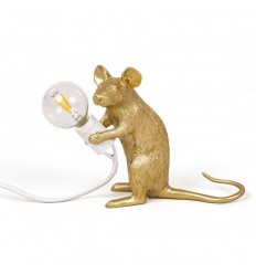 SELETTI MOUSE LAMP GREY