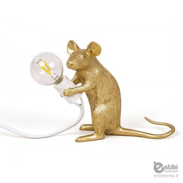 seletti mouse lamp gold. Black Bedroom Furniture Sets. Home Design Ideas