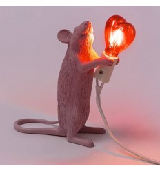 SELETTI MOUSE LAMP LOVE EDITION
