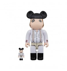 400% & 100% Bearbrick A CLOCKWORK ORANGE ALEX