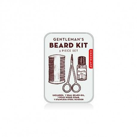 KIKKERLAND GENTLEMAN'S BEARD TIN Shop Online