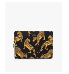 WOUF Black Leopard Laptop Sleeve 13″