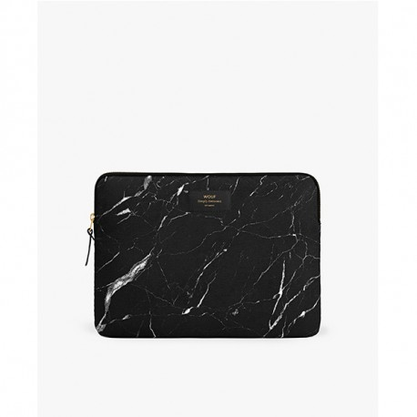 WOUF Black Marble Laptop Sleeve 13″