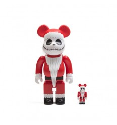 400% & 100% Bearbrick THE NIGHTMARE BEFORE CHRISTMAS SANTA JACK