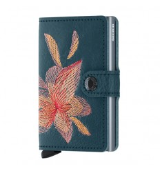 SECRID MINI WALLET MAGNOLIA PETROLIO