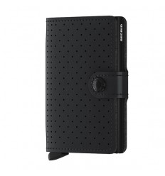 SECRID MINI WALLET PERFORATED BLACK Miglior Prezzo
