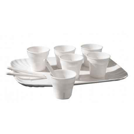 SET 6 BICCHIERINI DA CAFFE' + VASSOIO SELETTI Miglior Prezzo