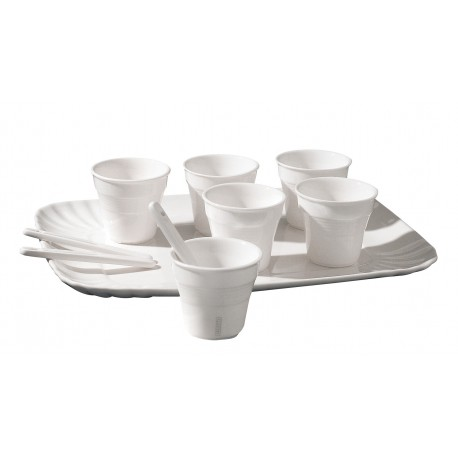 SET 6 BICCHIERINI DA CAFFE' + VASSOIO SELETTI