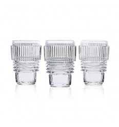 SELETTI MACHINE COLLECTION DRINKING GLASS SET OF 3
