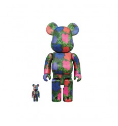 BEARBRICK ANDY WARHOL FLOWERS 400% & 100%