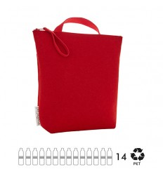 ESSENT'IAL cloth red recycled bottles
