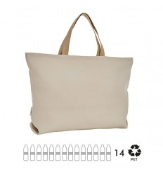 ESSENT'IAL Large canvas bag ecru recycled bottles