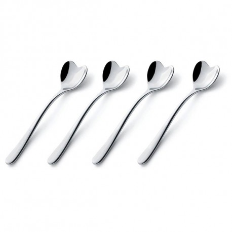 ALESSI BIG LOVE SET 4 COFFEE SPOONS