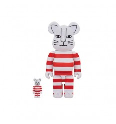 400% & 100% BEARBRICK LISA LARSON MIKEY RED