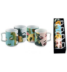 MUG (SET OF 4) MARILYN MONROE SERIES BY ANDY WARHOL ROSENTHAL