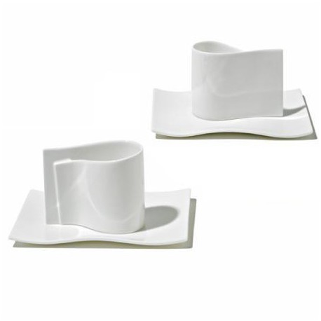 SET OF 2 MOCHA CUPS WITH SAUCERS E-LI-LI Shop Online