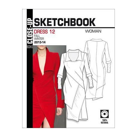 Close-Up Sketchbook Volume. 12 Dress Women