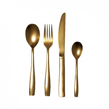 SET 24 POSATE DORATE -THE MIDAS CUTLERY- SELETTI