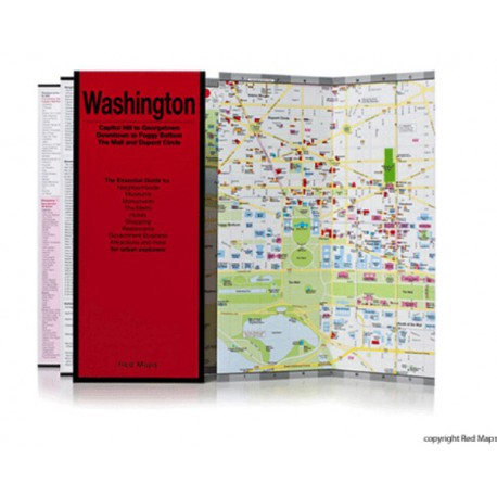 MAPPA WASHINGTON DC RED MAP