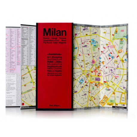 MAPPA MILANO RED MAP