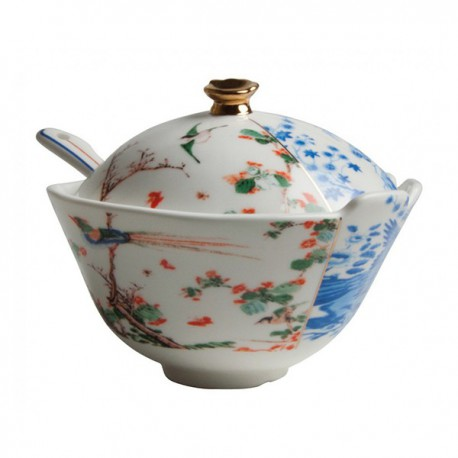 SELETTI - SUGAR POT HYBRID MAURILIA/WITH SPOON