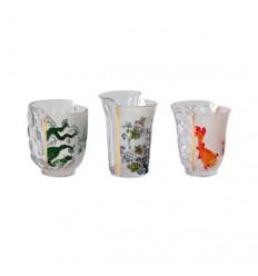 SELETTI - HYBRID AGLAURA SET OF 3 GLASSES