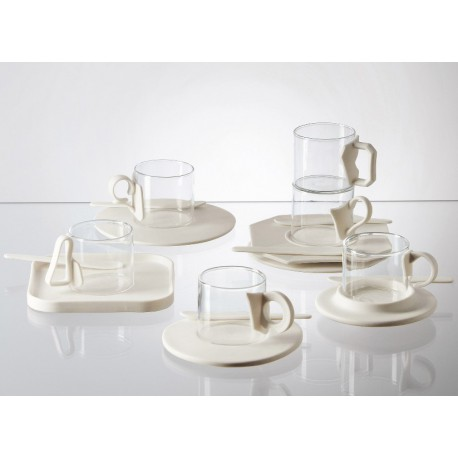 SELETTI ERA COLLECTION - 6 COFFEE CUPS + SAUCERS SET Shop Online